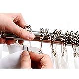 iYaYoo 100% Stainless Steel Rustproof Shower Curtain Hooks Rings, Polished ...